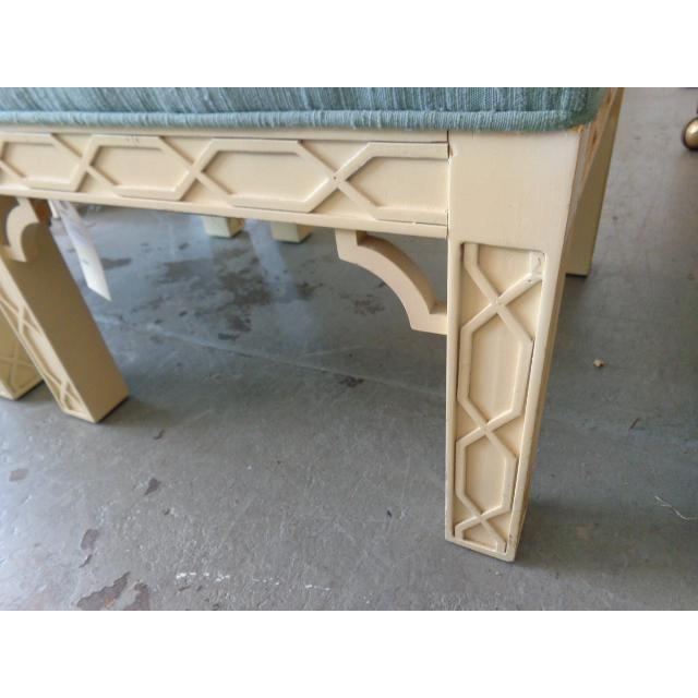 Chippendale Style Fretwork Benches - A Pair - Image 4 of 8