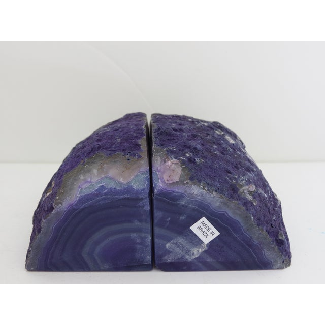 Purple Geode Bookends - A Pair - Image 7 of 7