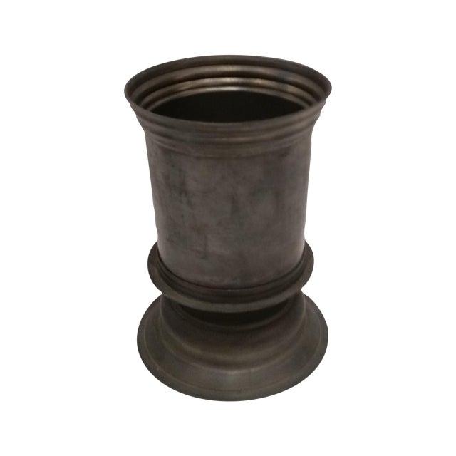 English Vintage Pewter Vase - Image 1 of 5