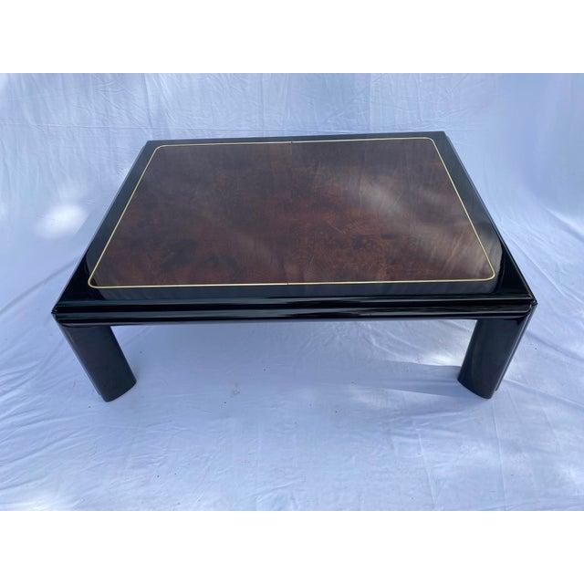 Metal 1970s Henredon Scene III Burl Coffee Table For Sale - Image 7 of 13
