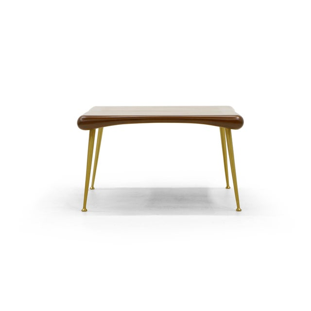 Mid-Century Modern Early Robsjohn-Gibbings Coffee or Side Table, Organic Walnut Form For Sale - Image 3 of 8