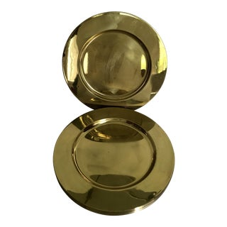 Brass Dinner Plates - Set of 6 For Sale
