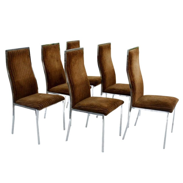 Six Milo Baughman for Thayer Coggin Dining Chairs For Sale