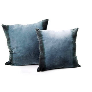 Hand Dyed Large Velvet Ombre Pillows - A Pair