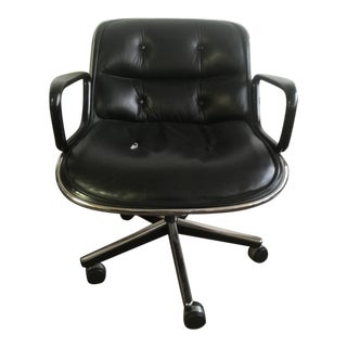 1970s Vintage Knoll Pollock Leather Executive Chair For Sale