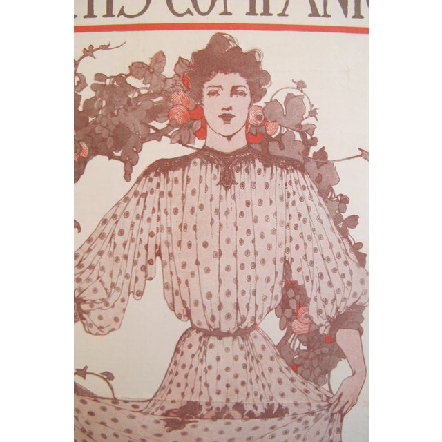 1903 American Art Nouveau Fashion Cover, The Youth's Companion For Sale - Image 5 of 5