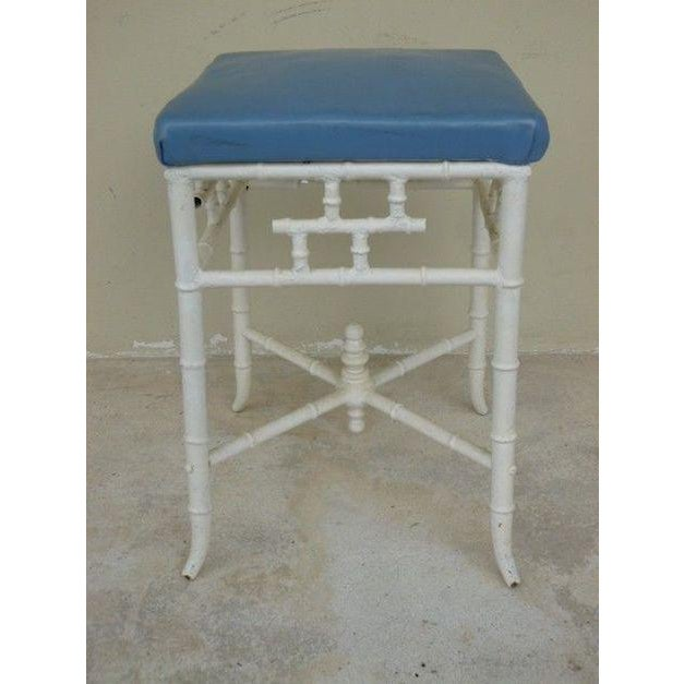 1970s Chinese Chippendale Metal Stool For Sale In Miami - Image 6 of 6