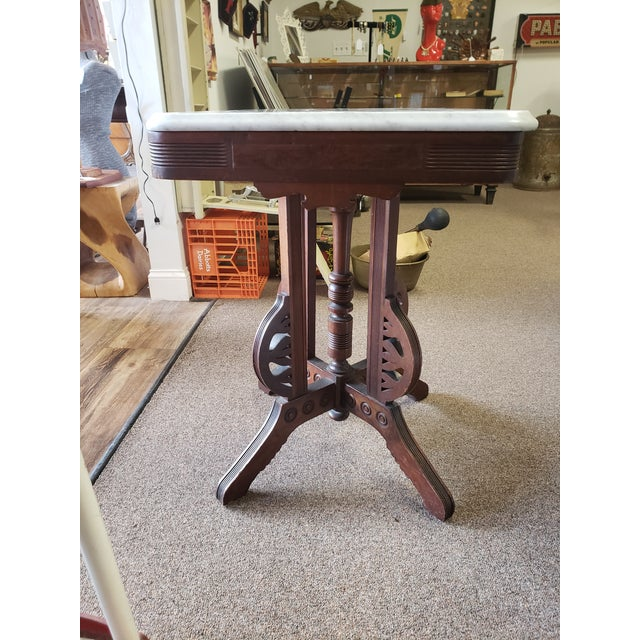 Wood Victorian, Antique Eastlake Style Table For Sale - Image 7 of 11