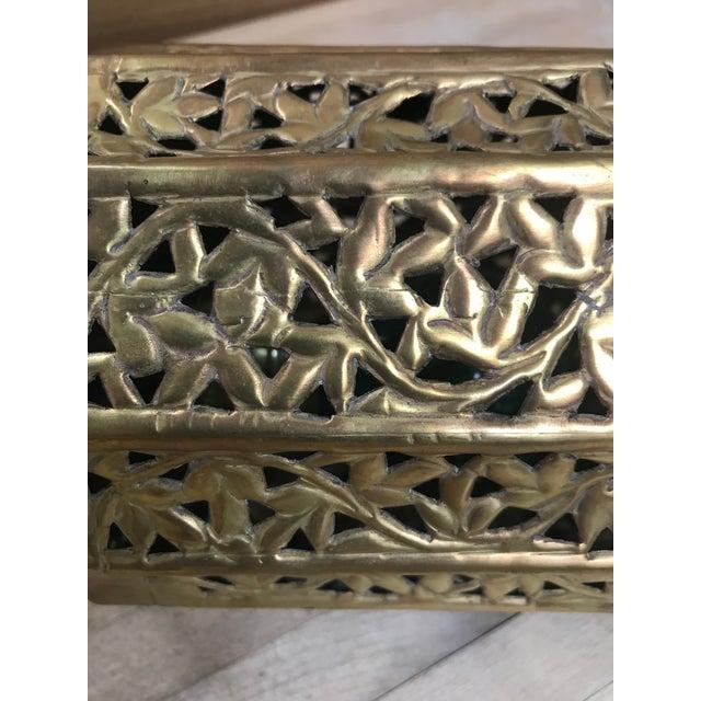 Moroccan Pierced Brass Lantern For Sale In Boston - Image 6 of 8