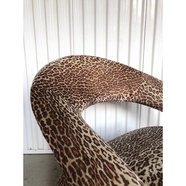 Sculptural Post Modern Velvet Lounge Chair by Jaymar For Sale In Portland, OR - Image 6 of 9