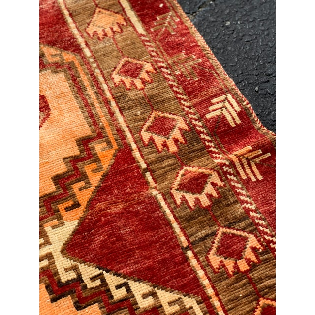 "1950's Vintage Turkish Anatolian Runner Rug - 3'2""x11'2"" For Sale In Atlanta - Image 6 of 13"