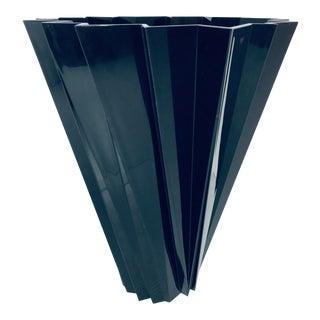 """Mario Bellini Glossy Black """"Shanghai"""" Vase for Kartell For Sale"""