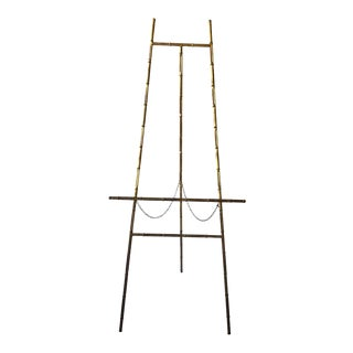 1960s Faux Bamboo Gilt Iron Easel For Sale