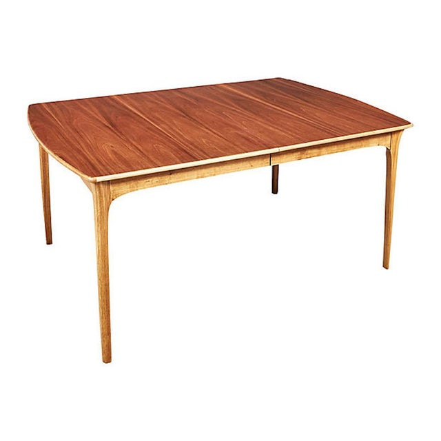 Mid-Century Modern 1960s Walnut Wood Dining Room Table For Sale - Image 3 of 6