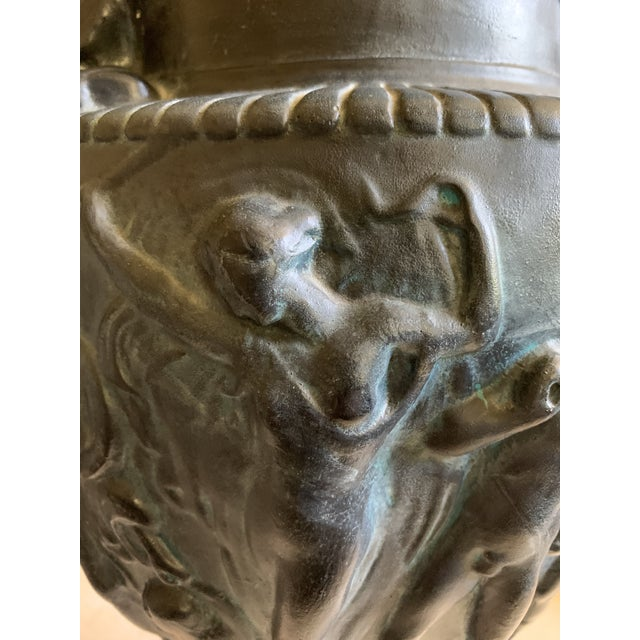 Late 20th Century Vintage Plaster Greek Amphore Urns - a Pair For Sale - Image 5 of 13
