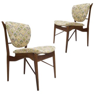 Finn Juhl Nv-51 for Baker Furniture Occasional, Desk or Dining Chairs - a Pair For Sale