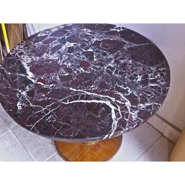 Jules Leleu Jules Leleu Signed Coffee Table With a Superb Marble Top For Sale - Image 4 of 6