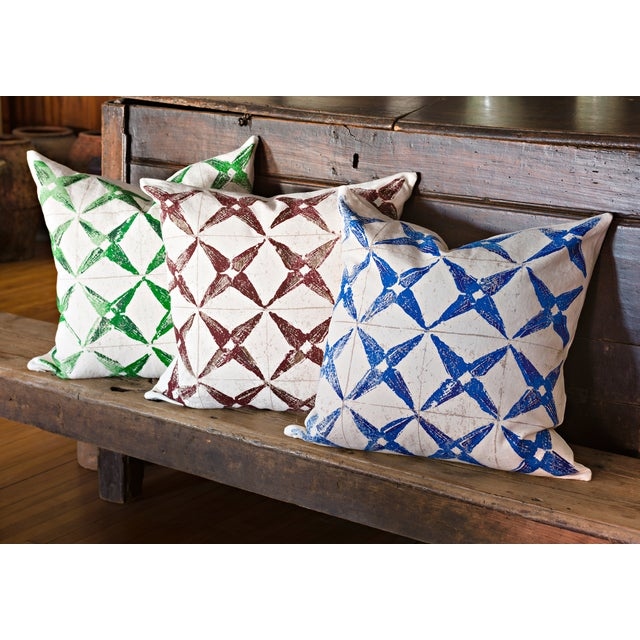 Blue Star Throw Pillow For Sale - Image 4 of 4