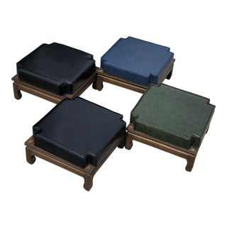 1970s Vintage Asian Chinoiserie Stacking Stools- Set of 4 For Sale