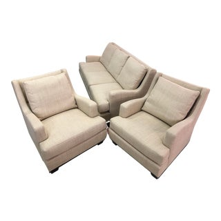 Modern Tomlinson Furniture Mercedes Arm Chairs & Sofa - Set of 3 For Sale