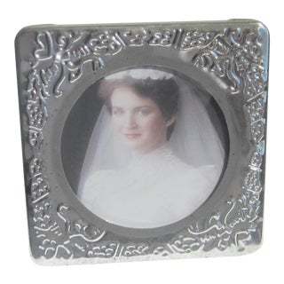 Silverplated Floral Design Picture Frame