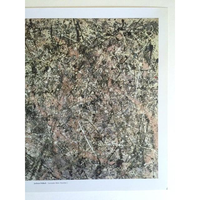 """Jackson Pollock Jackson Pollock Foundation Abstract Expressionist Collector's Lithograph Print """" Lavender Mist : No. 1 """" 1950 For Sale - Image 4 of 13"""