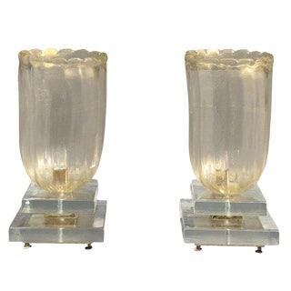 20th Century Pair of Murano Table Lamps For Sale