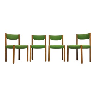 Harvey Probber Green Dining Chairs - Set of 4 For Sale