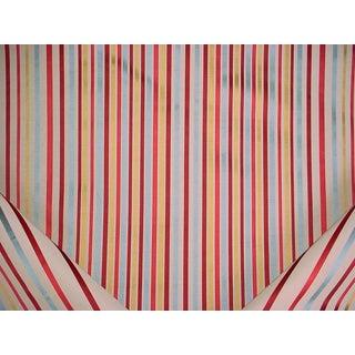 Brunschwig Fils Spectrum Silk Linen Red Blue Upholstery Fabric - 27 3/8 Yards For Sale