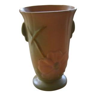 Weller Pottery Wild Rose Dogwood Vase