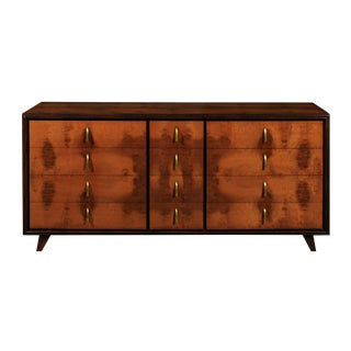 Extraordinary Restored Chest in Walnut and Elm by John Stuart, Circa 1960 For Sale