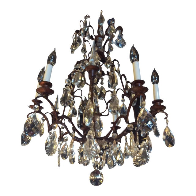 Antique French Crystal Chandelier For Sale