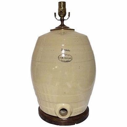 English Stoneware Spirit Jug Lamp - Image 1 of 3
