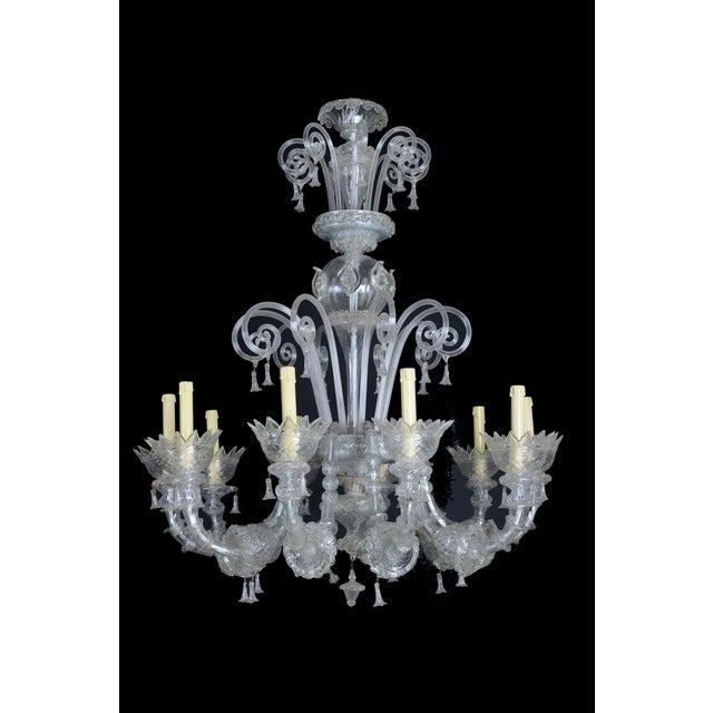 1900s Italian Murano Glass 10-Light Chandelier For Sale - Image 11 of 11
