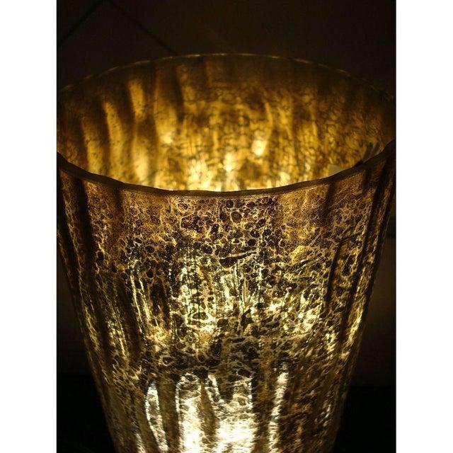 Modern Textured Metallic Glass Table Lamp - Image 5 of 6
