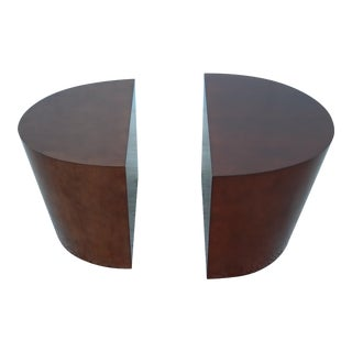 Norman Diekman for Coalesse Diekman Maple Veneer Occasional Tables - a Pair For Sale