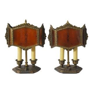 1920s Antique Art Deco Table Lamps- A Pair For Sale