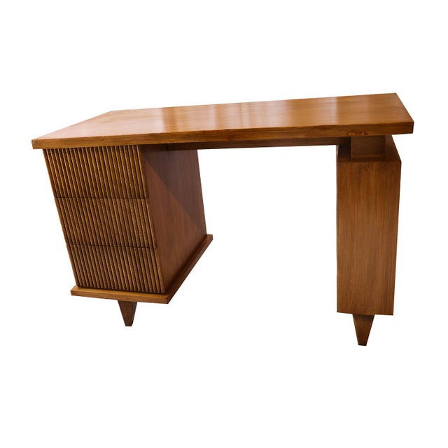 American Of Martinsville Bamboo Desk For Sale - Image 10 of 11