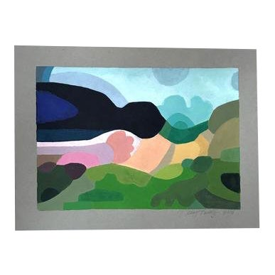 """2010s Pop Art Original Painting, """"Landscape 3"""" by Neicy Frey For Sale"""