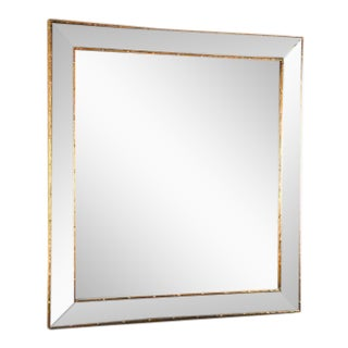Antique Gold Bamboo Trim Beveled Mirror