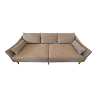 West Elm Antwerp Grey Sofa For Sale