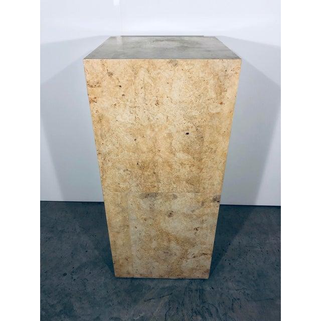 Karl Springer Karl Springer Style Decorative Parchment Display Pedestal For Sale - Image 4 of 13