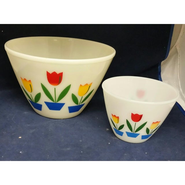 Vintage Fire King Tulip Mixing Bowls - a Pair For Sale - Image 13 of 13