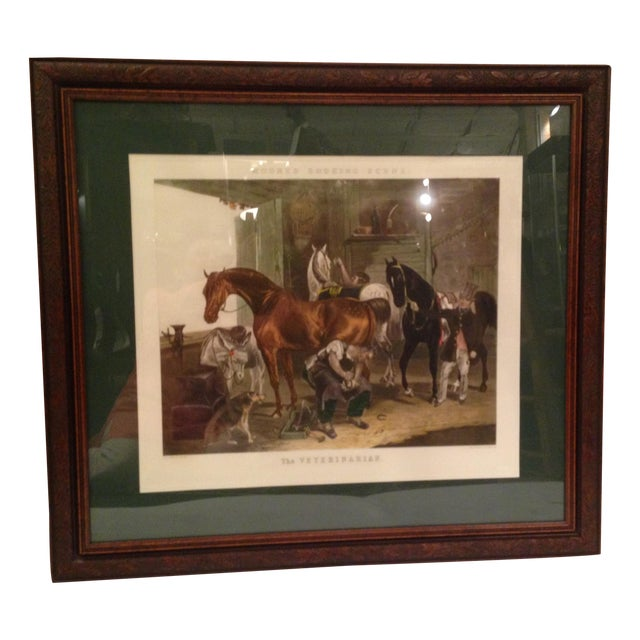 Fc Turner English Horse Shoeing Engraving - Image 1 of 8