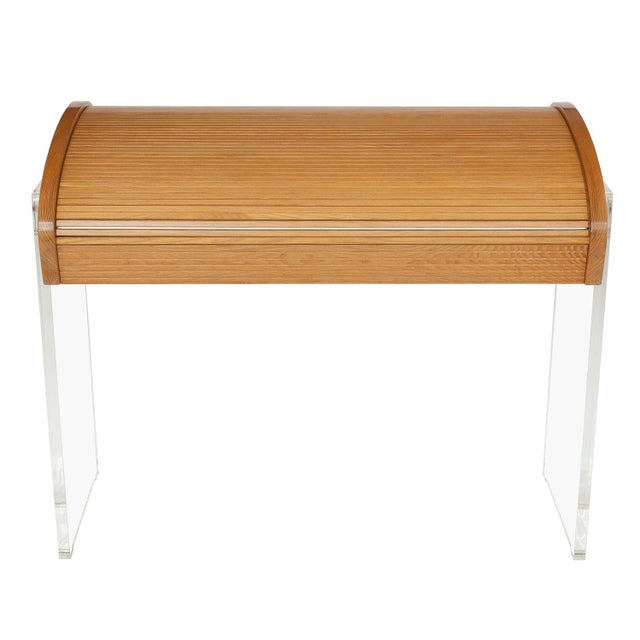 Vladimir Kagan Roll Top Writing Desk - Image 6 of 10