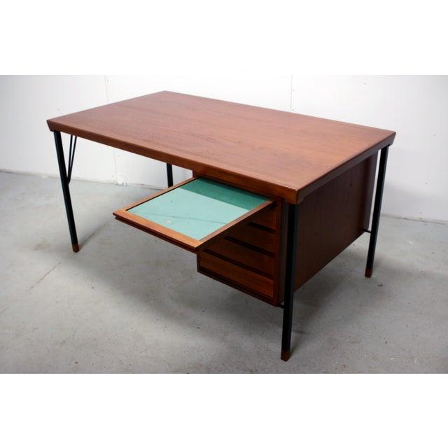 John Stuart Vintage Danish Modern Arne Vodder for Jon Stuart Teakwood Writing Desk For Sale - Image 4 of 12