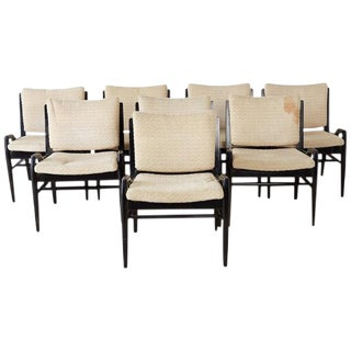 Set of Eight John Keal for Brown Saltman Dining Chairs For Sale