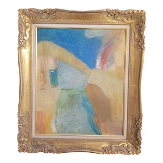 Gold Framed Abstract Painting