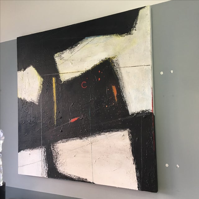 Large Abstract Expressionist Painting - Image 8 of 9