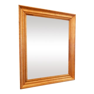 19th Century Charles X Gold Gilt Mirror For Sale